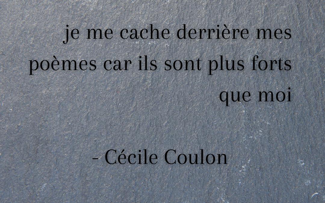 INSPIRATION : Cécile Coulon, autrice, poétesse et auvergnate